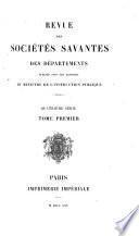Revue des sociétés Savantes des Departments