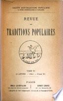Revue des traditions populaires