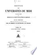 Revue des universités du Midi