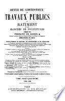 Revue du contentieux des travaux publics du batiment et des marchés de fournitures