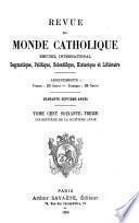 Revue du monde catholique