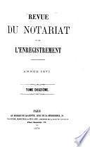 Revue du notariat et de l'enregistrement ...