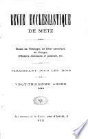 Revue ecclésiastique de Metz