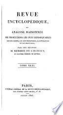 Revue encyclopédique [formerly Annales encyclopédiques].