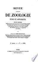 Revue et Magasin de Zoologie pur et Appliquee.Recueil Mensuel   2e Serie-T.V.-1853