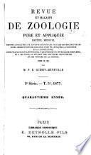Revue et magasin de zoologie pure et appliquée
