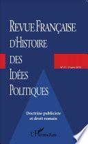 Revue française d'histoire des idées politiques - 41