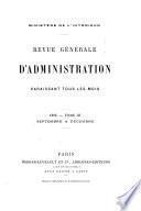 REVUE GENERALE D'ADMINISTRATION