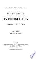 Revue générale d'administration