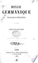 Revue germanique, française & étrangère