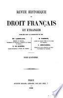 Revue historique de droit français et étranger: (612 p.)