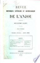 Revue historique, littéraire et archéologique de l'Anjou