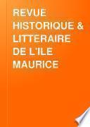 Revue Historique & Litteraire