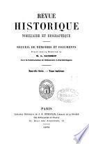 REVUE HISTORIQUE NOBILIAIRE ET BIOGRAPHIQUE