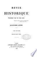 Revue Historique Paraissant tous les deux mois