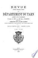 Revue historique, scientifique & littéraire du département du Tarn (ancien pays d'Albigeois).