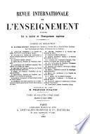 Revue internationale de l'enseignement
