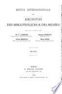 Revue internationale des archives, des bibliothèques et des musées