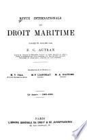 Revue internationale du droit maritime