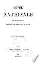 Revue nationale et étrangère politique, scientifique et littéraire