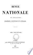Revue nationale et étranǵre, politique, scientifique et littéraire, publ. par m. Charpentier