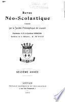 Revue néoscolastique de philosophie