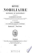 Revue nobilaire, heraldique et biographique
