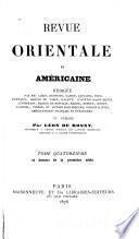 Revue orientale et américaine