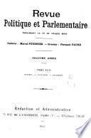 Revue politique et parlementaire