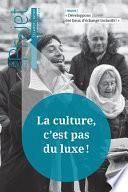 Revue Projet - La culture, c'est pas du luxe !
