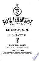 Revue théosophique française, le lotus bleu