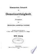 Schweizerische Zeitschrift für Gemeinnützigkeit