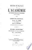 Séances et travaux de l'Académie des Sciences Morales et Politiques