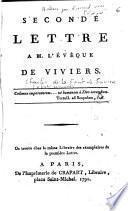 Seconde lettre à M. l'évêque de Viviers