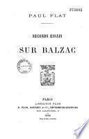Seconds essais sur Balzac