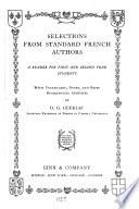 Selections from standard French authors