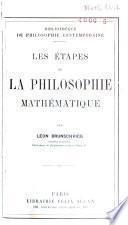 Ses étapes de la philosophie Mathématique