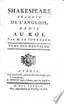 Shakespeare traduit de l'anglois: La soirée des rois; Le conte d'hiver