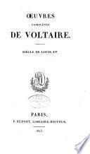 Siécle de Louis XV