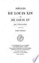 Siècles de Louis xiv et de Louis xv