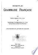 Simple grammaire française