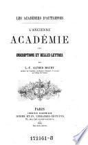 """""""L'""""Ancienne Academie des inscriptions et belles-lettres"""