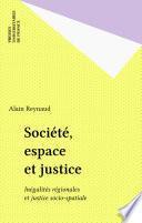 Société, espace et justice