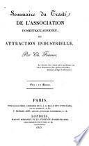 Sommaire du Traité de l'association domestique-agricole