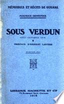 Sous Verdun, août-octobre 1914