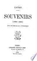 Souvenirs, 1860-1889