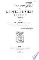 Souvenirs de l'Hôtel de Ville de Paris, 1848-1852