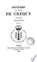 Souvenirs de la marquise de Créquy, 1710 à 1802 [by M. Cousin].