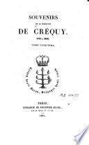 Souvenirs de la Marquise de Créquy
