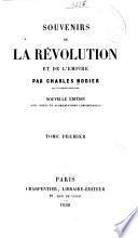 Souvenirs de la révolution et de l'empire